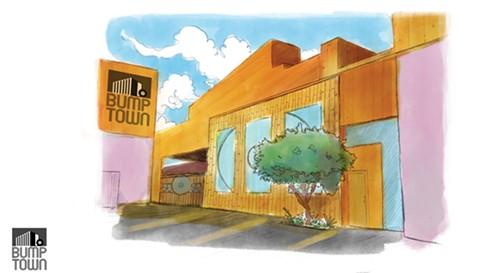 An artist's rendering of Bump Town's exterior.