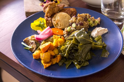 A sampling of food from the last Hella Black Brunch. - PHOTO COURTESY OF JASMIN PORTER