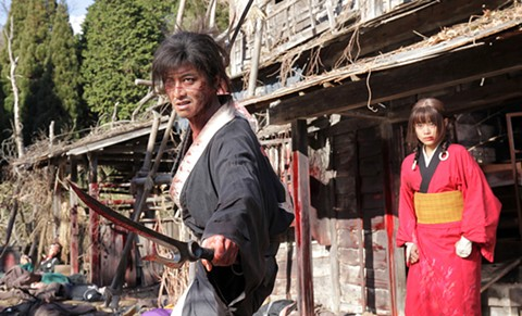 Kimura Takuya (left) and Sugisaki Hana in Blade of the Immortal. - PHOTO COURTESY OF MAGNET RELEASING