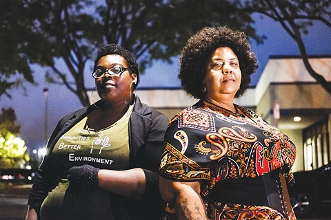 Angela Scott and Esther Goolsby of CBE fought against the crematorium. - PHOTO BY DARRYL BARNES