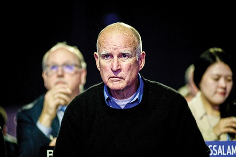 Jerry Brown has reacted angrily to his climate critics. - PHOTO BY BENJAMIN GÉMINEM (FLICKRCC)