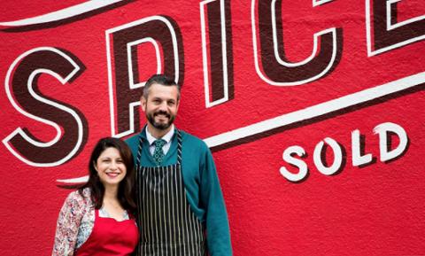 Erica Perez and John Beaver outside their new shop. - PHOTO COURTESY OF ERIN SCOTT
