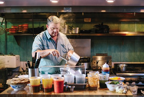 Chef-owner Geoffrey Deetz is cooking the food he loves most. - PHOTO BY MELATI CITRAWIREJA