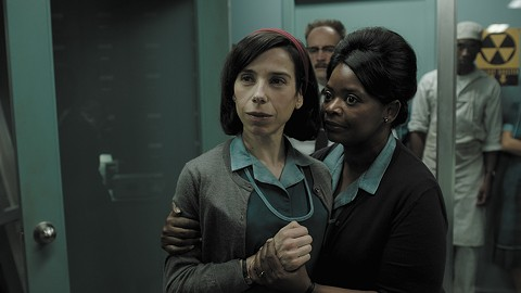 Sally Hawkins and Octavia Spencer clean up in the monster business in The Shape of Water.