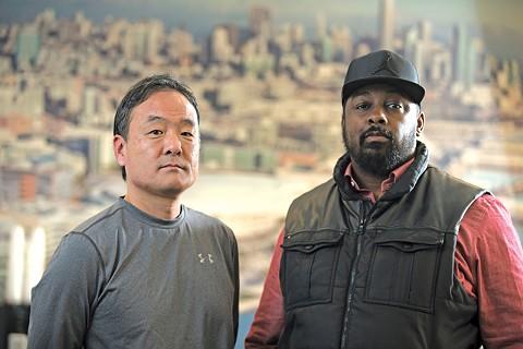 Tim Kawakami and Marcus Thompson II. - PHOTO BY D. ROSS CAMERON