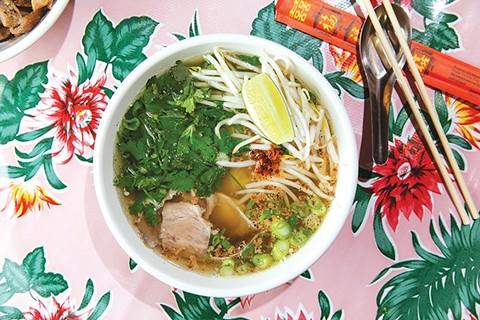 Kuy teav, Cambodian noodle soup, at Nyum  Bai. - ANDRIA LO