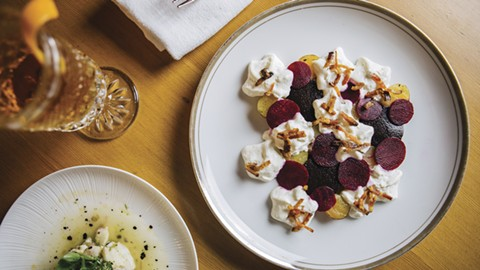 Beets by Dre has a wealth of textures you wouldn't expect from a $7 plate of beets. - PHOTO BY MELATI CITRAWIREJA