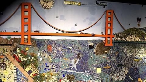 A mosaic by Daud Abdullah inside Bridge Artspace. - PHOTO COURTESY OF DAUD ABDULLAH