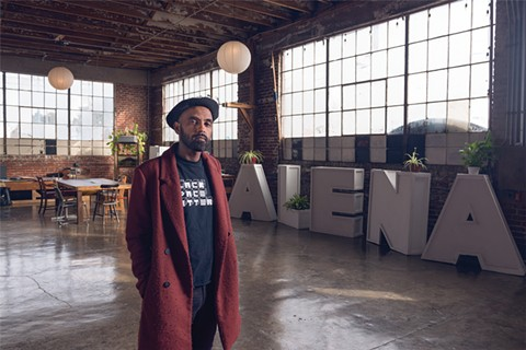 Hager Seven Asfaha, founder of Alena Museum, says Black-owned buildings are vital to the East Bay's arts community. - PHOTO BY LANCE YAMAMOTO