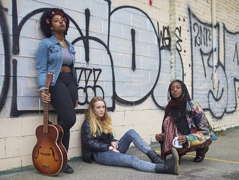 Bay Area Girls Rock Camp is as much about collaboration and self-confidence as it is about musical instruction. - PHOTO COURTESY OF BAY AREA GIRLS ROCK CAMP