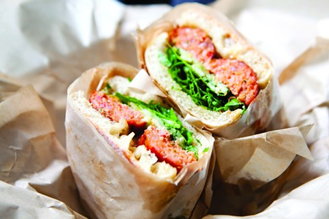 Aunt Malai's Deep-Fried Lao Sausage Sandwich from Pal's Takeaway. - BERT JOHNSON/FILE PHOTO