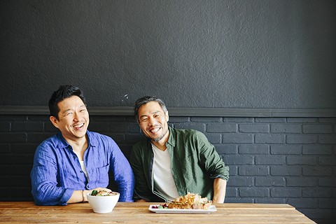 Sang Lee (left) and Sungsoon Park met while working at a Berkeley Japanese restaurant. - PHOTO BY MELATI CITRAWIREJA