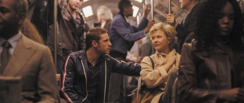 Jamie Bell and Annette Bening get acquainted in Film Stars Don't Die in Liverpool.