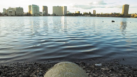 On Jan. 15, raw sewage started spilling into Lake Merritt for the second time in a month. - PHOTO BY GABRIELLE CANON