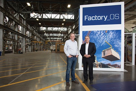 Rick Holliday and Larry Pace at Factory_OS. - PHOTO BY CLAYTON MITCHELL