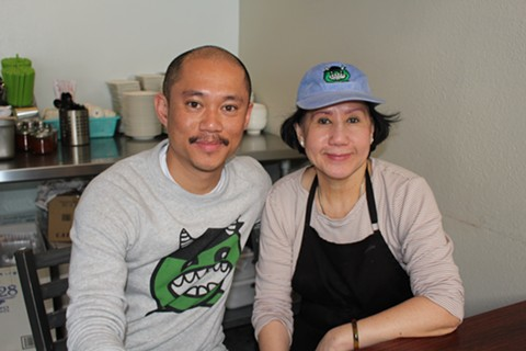 Monster Pho's Tee Tran with his mom Dung Le. - JANELLE BITKER