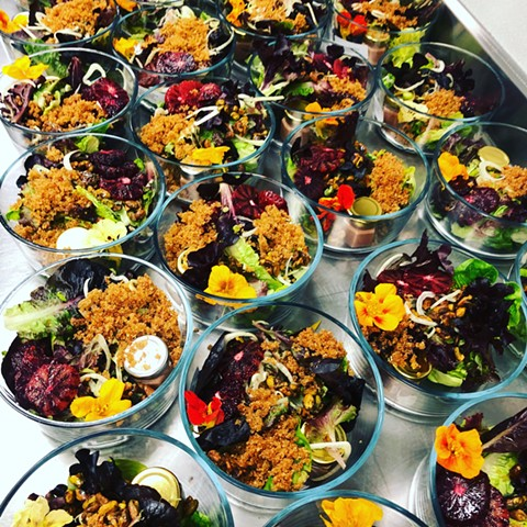 Salads ready to go in glass containers. - PHOTO COURTESY OF PLANTED TABLE