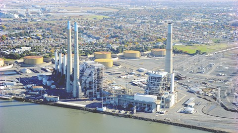 Ths Pittsburg Power Plant is part of a hub of natural-gas-fueled power generation in the East Bay. - CENTER OF LAND USE INTERPRETATION