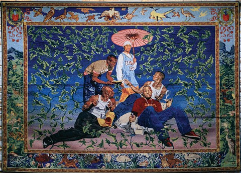 Kehinde Wiley's Gypsy Fortune-Teller is the most compelling piece in the exhibit. - IMAGE COURTESY OF SUZY GORMAN
