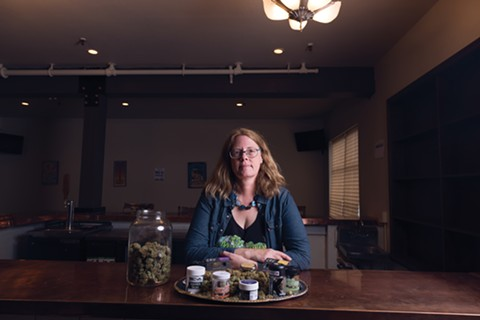 Debbie Goldsberry, executive director of Magnolia dispensary in Oakland, offers business classes geared to cannabis entrepreneurs. - PHOTO BY LANCE YAMAMOTO