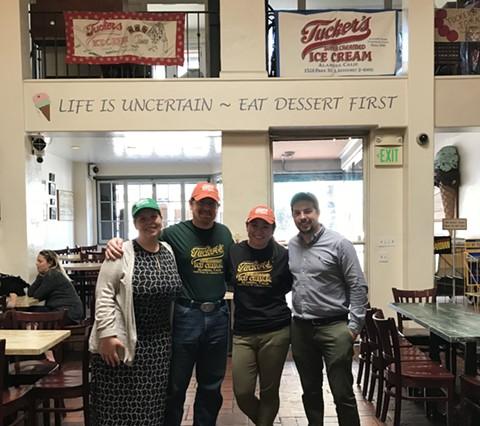 The new Tucker's ownership team, from left to right: Lauren Zimmerman Cook, Joshua Cook, Erika Zimmerman, and Stephen Zimmerman. - PHOTO COURTESY OF ERIKA ZIMMERMAN