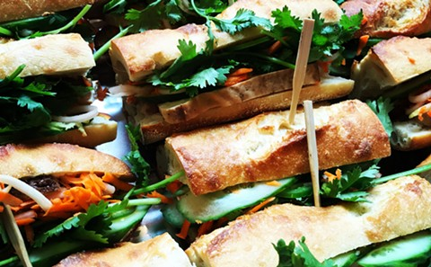 This plant-based riff on banh mi uses tofu instead of meat. - PHOTO COURTESY OF ALICIA SMILEY