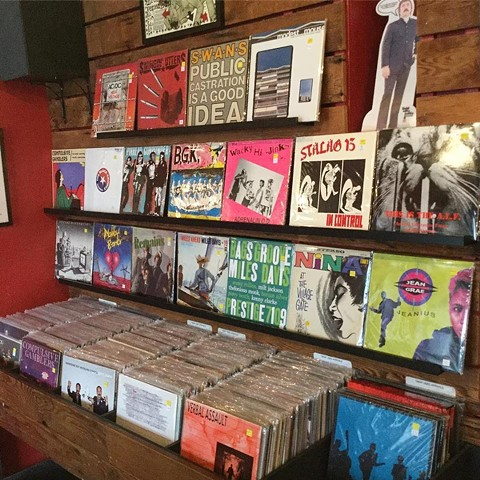 Stacks on stacks at 1-2-3-4 Go! Records. - PHOTO COURTESY OF 1-2-3-4 GO! RECORDS VIA FACEBOOK