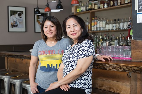 Denise Huynh (left) runs Tay Ho with her mom, Anna, leading the kitchen. - PHOTO BY RICHARD LOMIBAO
