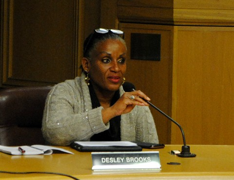 A judge said Oakland councilmember Desley Brooks didn't show any remorse for shoving former Black Panther leader Elaine Brown during an argument. - PHOTO BY STEVEN TAVARES
