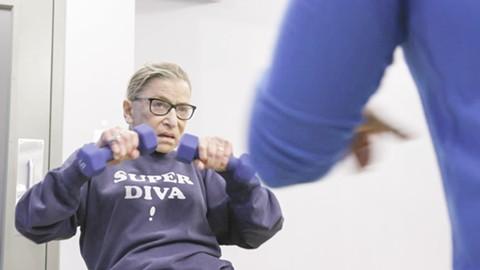 Ruth Bader Ginsburg doesn't mess around at the gym.