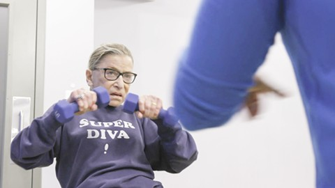 Ruth Bader Ginsburg doesn't mess around at the gym.