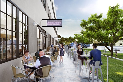 The rooftop might feature a beer garden. - COURTESY OF ALAMEDA POINT REDEVELOPERS