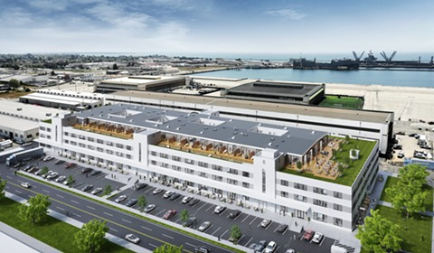 A rendering of The General Storehouse. - COURTESY OF ALAMEDA POINT REDEVELOPERS
