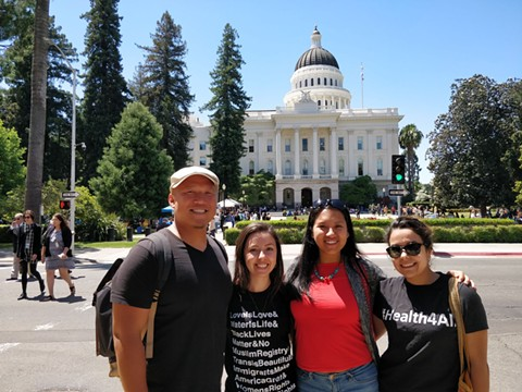 Bo Chung, Miriam Magaña, Erika Sarmiento, and Gladis Chávez all obtained their master's degrees this year from UC Berkeley's School of Public Health. - COURTESY OF BO CHUNG