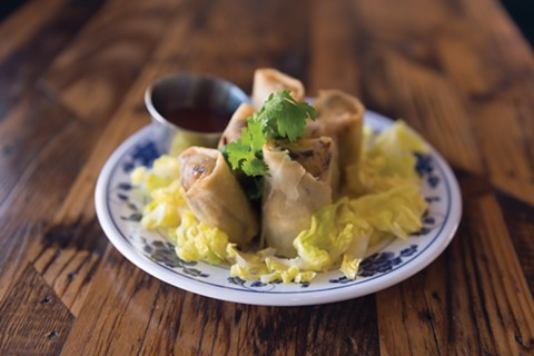 Crispy vegetable spring rolls are one of several vegan options. - PHOTO BY LANCE YAMAMOTO