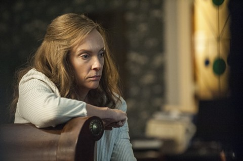 Toni Collette thinks she hears noises in Hereditary