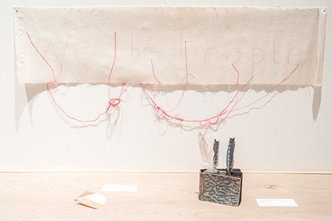 Cecilia Vicuña incorporates found objects into her installations. - PHOTO COURTESY ALEX MARKS