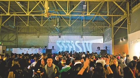 Feels started as an underground warehouse party. - PHOTO COURTESY OF WINE & BOWTIES