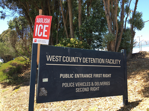 ICE pays the Contra Costa Sheriff's Department about $6 million a year to detain immigrants in the West County Detention Facility.