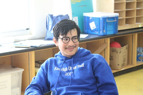 Jesus Galindo, 27, has taught in West Contra Costa Unified for five years. - THERESA HARRINGTON FOR EDSOURCE