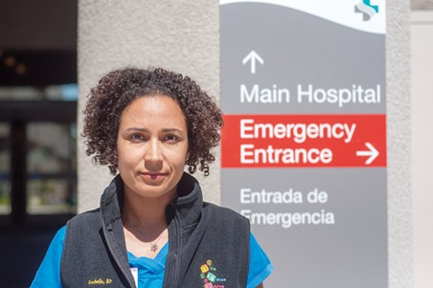 Rochelle Pardue-Okimoto, a nurse in the neonatal intensive care unit at Alta Bates and El Cerrito's mayor pro tem, said Sutter Health has an obligation to the community to keep the Berkeley hospital open. - PHOTO BY DREW COSTLEY