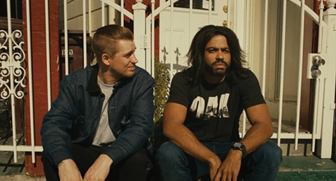Rafael Casal (left) and Daveed Diggs take a breather in Blindspotting.  - PHOTO COURTESY OF ROBBY BAUMGARTNER