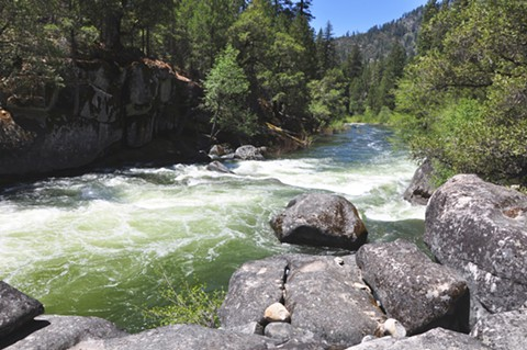 The Mokelumne River flows west from the central Sierra Nevada. - PHOTO BY KATHERINE EVATT