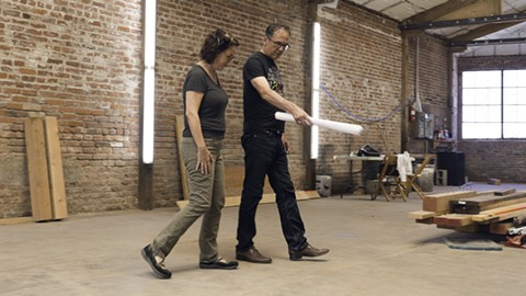 Karen Van Leuven and Robert Bradsby walk through their future jazz venue. - PHOTO BY LANCE YAMAMOTO