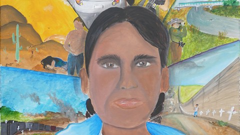 Painting by Ramon Carrillo, undocumented project artist. - PHOTO COURTESY OF PERALTA HACIENDA