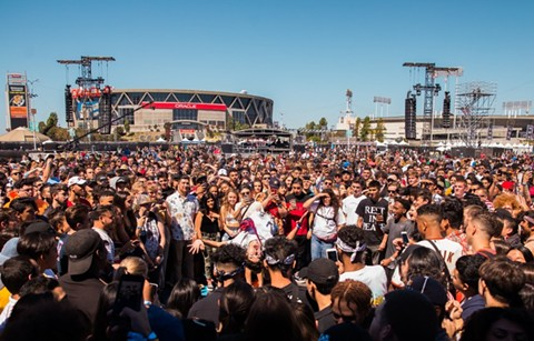This year's Bay Area Rolling Loud took place outside Oracle Arena. - PHOTO COURTESY OF JAMES BAXTER