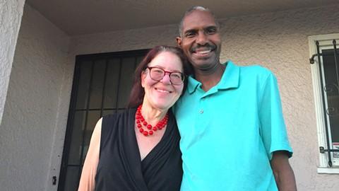 The Oakland Community Land Trust allowed Shekinah Samaya-Thomas and Christopher Thomas to buy an affordable home. - PHOTO BY DARWIN BONDGRAHAM