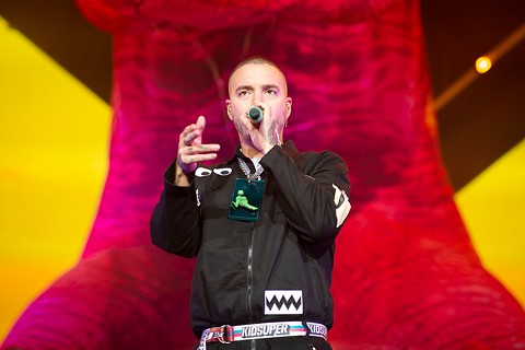 J Balvin at Oracle Arena. (Scroll down for a slideshow.) - PHOTO BY RED EYE COLLECTION