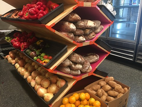 Produce stand inside the UC Berkeley Food Pantry. - PHOTO COURTESY OF THE UC BERKELEY FOOD PANTRY