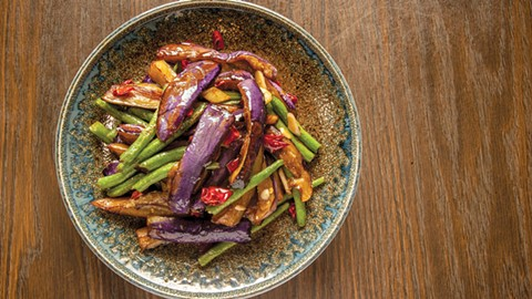 The eggplant and green beans were ideal. - PHOTO BY PAUL HAGGARD